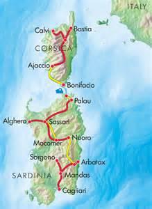 Sardinia and Corsica Map