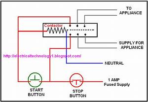 Wiring Diagram Single Phase Contactor
