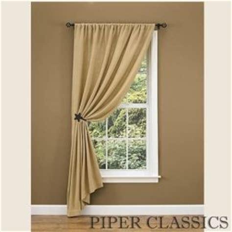 simple burlap single drape 84 quot window panels curtain