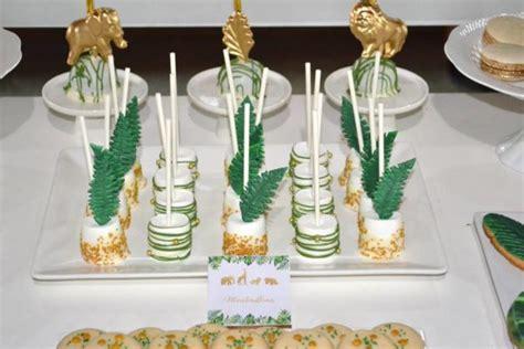 gold  hunter green safari baby shower baby shower