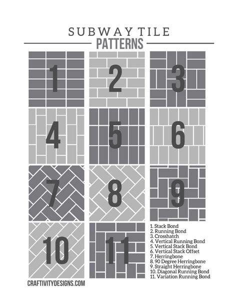 50+ Subway Tile Ideas + Free Tile Pattern Template