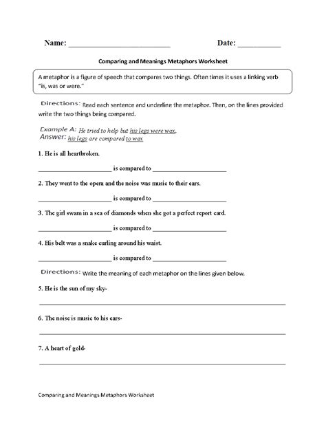 worksheet figures of speech worksheet grass fedjp