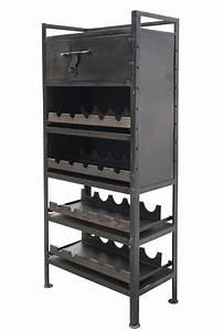 Meuble Porte Bouteille : porte bouteilles industriel fabriqu s en m tal pour bars ~ Teatrodelosmanantiales.com Idées de Décoration