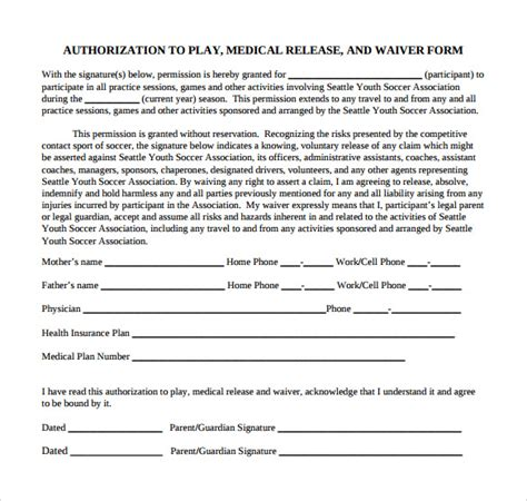 Generic Consent Form Template by Generic Consent Form For Best Free Home