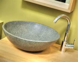 vasque en pierre baignoire et lave main en pierre pour With salle de bain design avec lave mains en pierre naturelle