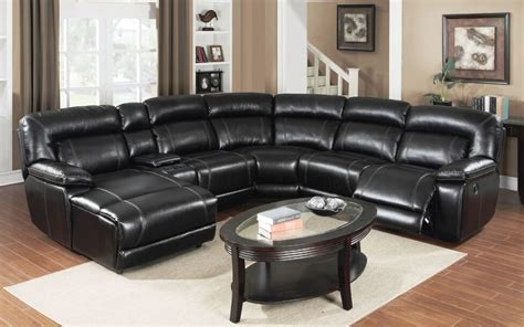 motion black reclining sectional sofa  chaise