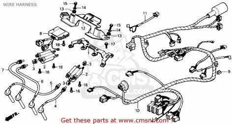 honda cbr600f hurricane 1990 l usa wire harness schematic partsfiche