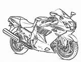 Coloring Motorcycle Printable sketch template