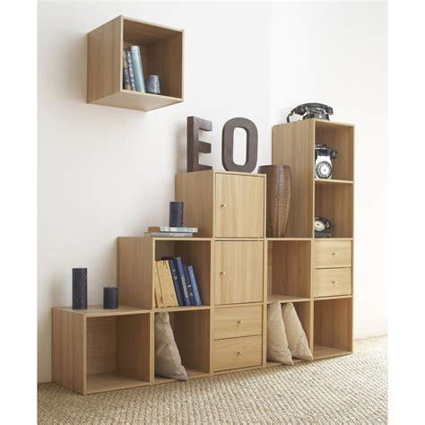bureau avec retour ikea etagère cube en bois l35cm personnalisable multikaz