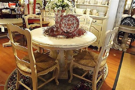 french country column dining   dining table