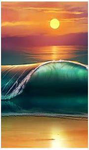 Sunset beach art HD wallpaper | HD Latest Wallpapers