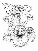 Gremlins Coloring Monster Draw Stripe Step Coloringhome sketch template