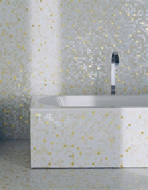 designs for small bathrooms mosaic tile bathroom with bisazza white gold tile