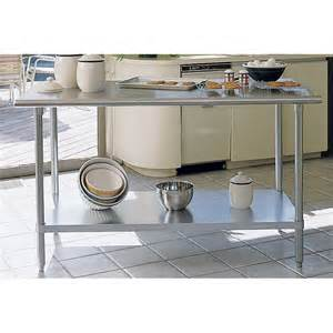 metal kitchen island tables a line by advance stainless steel bull nose edge chef table kitchen island sag 246re