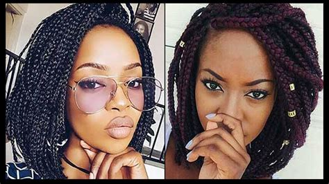 Short Box Braids Hairstyles For Black Women || Box Braids