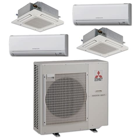Mitsubishi Heat Mini Split by Mini Split 4 Zone Mitsubishi Up To 19 2 Seer Heat