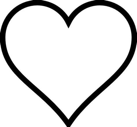 heart stencil plain heart clip art vector clip art