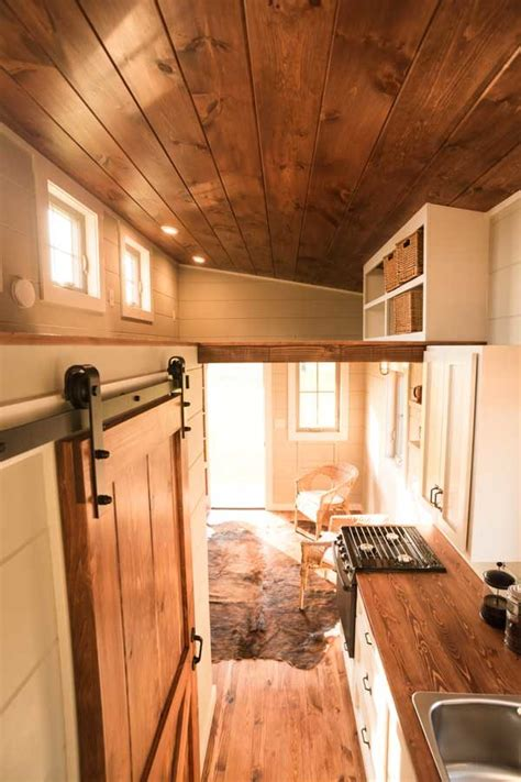 boxcar tiny house   downstairs bedroom  lots