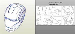 robo3687 iron man mark 4 6 pepakura foam templates easy With iron man suit template