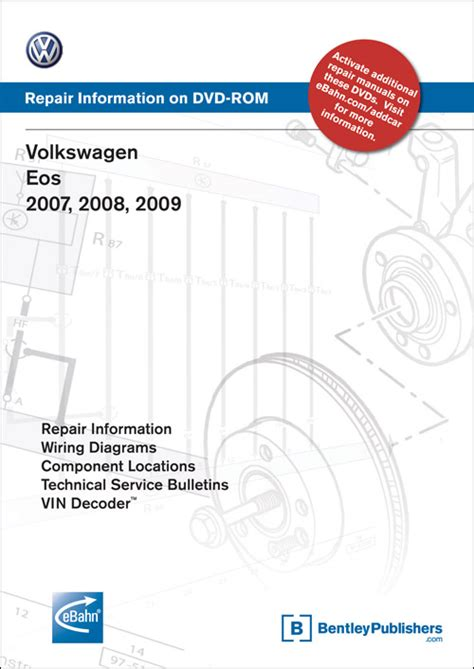 car repair manuals online pdf 2009 audi s8 electronic toll collection front cover volkswagen eos 2007 2008 2009 repair manual on dvd rom bentley publishers