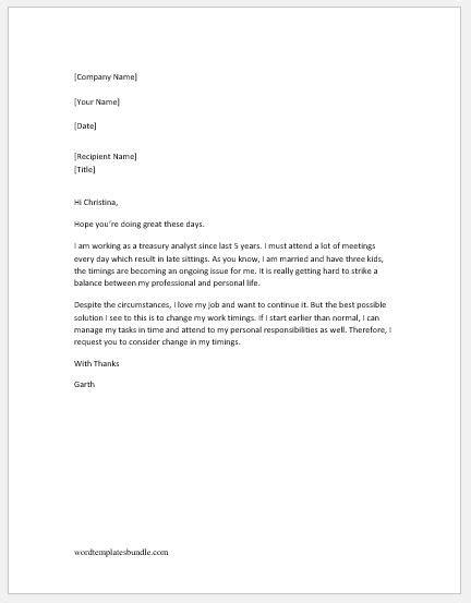 change of address form sle work schedule change request letter design templates