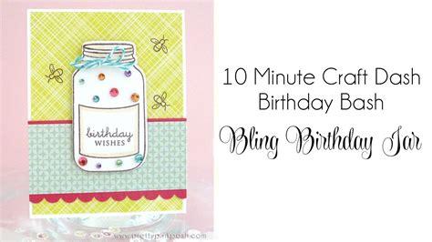 minute craft dash birthday bash bling birthday jar