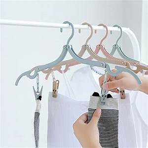 Cleaning Service List Wheat Straw Double Clip Foldable Travel Portable Hanger