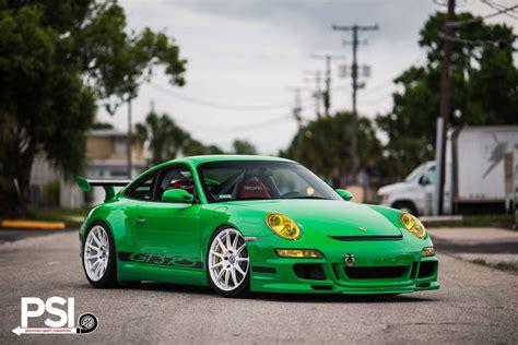 green porsche 911 green porsche 911 gt3 rs rides on white hre wheels gtspirit
