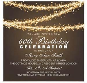60th birthday invitation card template free download With 60th birthday invites free template