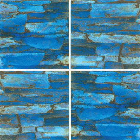 6x6 Porcelain Pool Tile by Ledge 6x6 Azurite