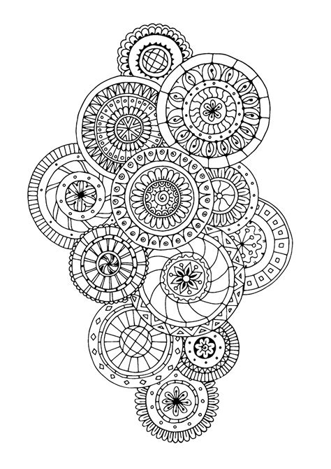 zen antistress abstract pattern inspired anti stress adult coloring pages