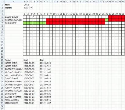 Date Ranges Calendar Excel Template Plot Schedule