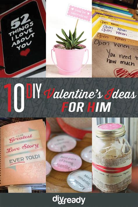 Get unique valentine's gifts for him that aren't too serious, like customized boxer shorts or a personalized beer mug. 10 Valentines Day Ideas for Him DIY Ready