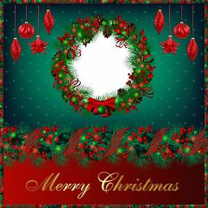 Merry Christmas Photo Frame Circle transparent PNG - StickPNG