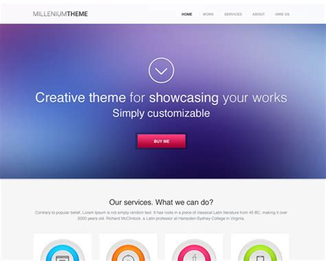 Single Page Theme Millennium Single Page Theme Themeshaker