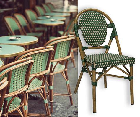 chaise bistrot rotin mobilier pour terrasses de restaurants de bars d hôtels