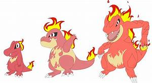 Fire Totodile Evolution Line By Evilfurryskull On Deviantart