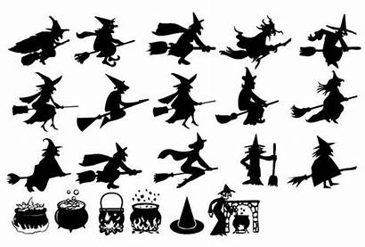 Halloween Witches Flying Silhouettes Google Silhouette Hexen