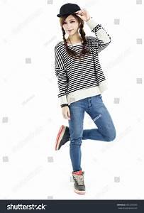 Asian Hip Hop Fashion Girl Model Stock Photo 401295040 ...