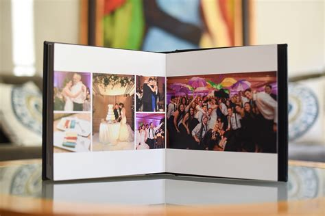 black calf fine art leather wedding photo album vered