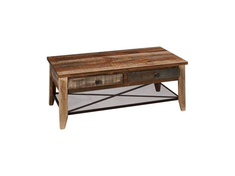 international furniture direct reclaimed wood cocktail