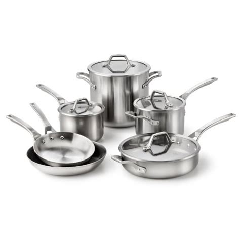 clad  calphalon  clad  calphalon calphalon stainless steel accucore cookware set