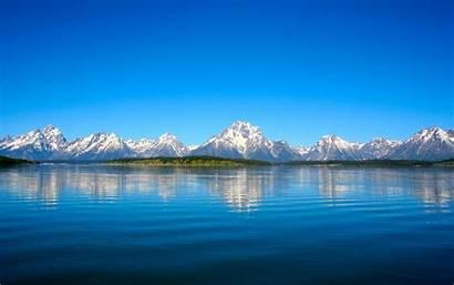 Wallpapers Mountain Lake Teton Grand Reflections Desktop
