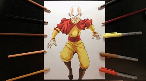 Dibujo De Aang Avatar Drawing Aang Avatar Youtube