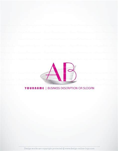 exclusive design hot pink initial logo compatible  business card  logo design