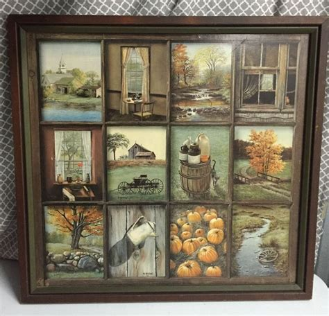 Home Interior Ebay by Home Interior B Mitchell Fall Harvest Vintage Wood Framed
