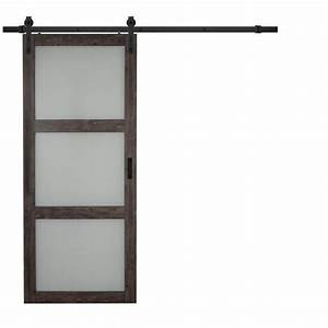 shop iron aged grey solid core frosted glass mdf barn With 36 frosted glass interior door
