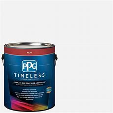 Ppg Timeless 1 Gal Pure Whitebase 1 Flat Exterior Paint