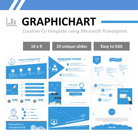 graphichart creative resume using powerpoint resumepixel