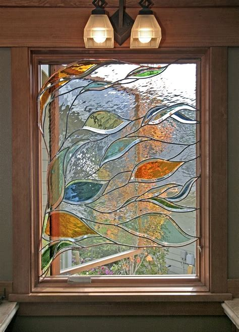 shower curtain ideas for small bathrooms handmade stained glass in a bathroom window by isaac d